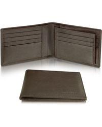 Moreschi - Signature Dark Brown Leather Billfold Id Wallet - Lyst