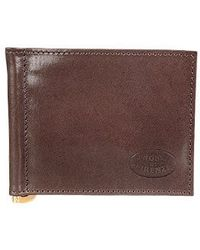 Robe Di Firenze - Leather Credit Card Holder W/money Clip - Lyst