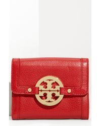Tory Burch Amanda Angelux Double Flap French Wallet - Lyst