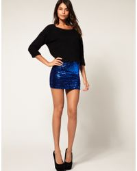 ASOS Collection Asos Mini Skirt with Sequins - Lyst
