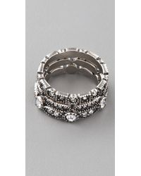 Club Monaco - Rhinestone Ring Set - Lyst