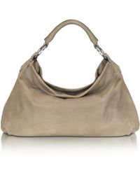 FORZIERI - Medium Taupe Leather Hobo - Lyst