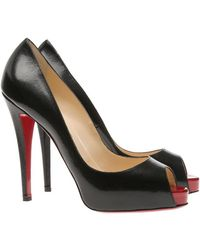 Christian Louboutin Very Prive Peep-toe Court Shoes - Black