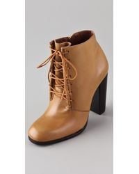 Elizabeth and James - Chaps Lace Up Booties - Lyst