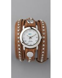 La Mer Collections Bali Studs Watch brown - Lyst