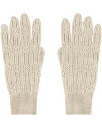 AllSaints Char Cable Gloves - Natural