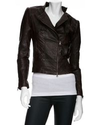 Improvd - Leather Jacket: Brown - Lyst