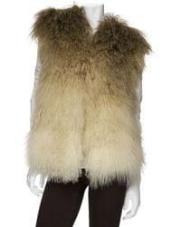 Matthew Williamson - Ombre Mongolian Lamb Fur Vest - Lyst