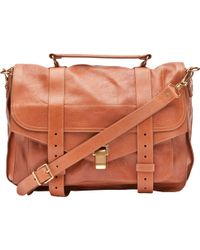 Proenza Schouler Ps1 Large Leather in Saddle - Lyst