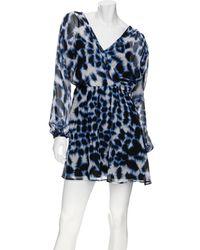 Twelfth Street Cynthia Vincent Chiffon Cross Front Dress - Blue