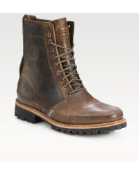 Timberland Tackhead Full-grain Leather Boots - Lyst