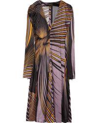 Vionnet Printed Stretch Silk-satin Dress - Black