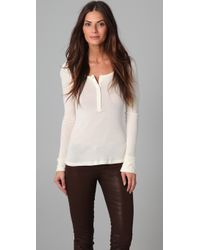 HHH by Haute Hippie - The Dilf Henley Top - Lyst