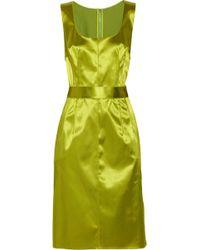 Dolce & Gabbana Seam-detail Satin Dress - Lyst
