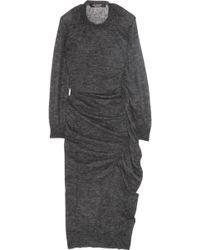 Junya Watanabe Gathered Mohair-blend Sweater Dress - Lyst