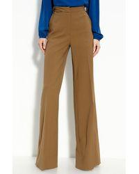 Diane von Furstenberg High Rise Wide Leg Trousers - Lyst
