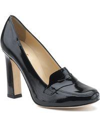 Kate Spade Jolene - Black Patent Leather Loafer Pump - Lyst