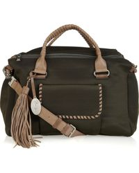 Max Azria Leather-trimmed Canvas Bag - Lyst