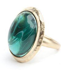 Kenneth Jay Lane - Emerald Ring - Lyst