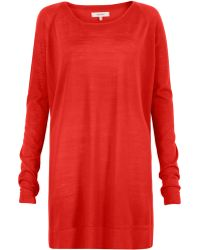Whyred Vermillion Long Sleeve Sweater Dress - Orange