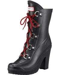 Hunter Lace-up Heeled Rain Boot - Lyst