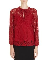 Beyond Vintage - Tie Front Lace Top - Lyst