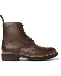 Foot The Coacher Fred Leather Brogue Boots - Brown