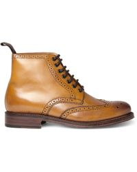 Grenson Sharp Leather Brogue Boots - Lyst