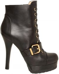Fendi 120mm Lace Up Calfskin Boots - Lyst