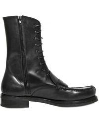 Jil Sander Brushed Calfskin Loafer Boots - Lyst