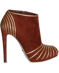 Sergio Rossi 120 Mm Suede and Calf Piping Low Boots - Lyst