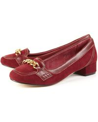 Jigsaw - Chain Suede Heeled Loafers - Lyst