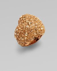 Marc By Marc Jacobs Pavé Heart Ring - Lyst
