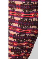 Torn By Ronny Kobo - Sarah Aztec Ruched Skirt - Lyst