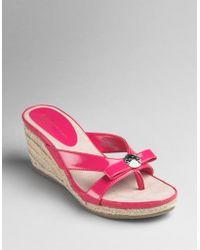 Ak Anne Klein Poisy Bow-detail Espadrille Sandals - Lyst