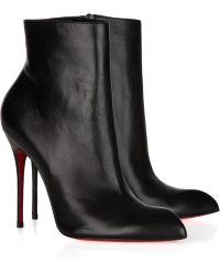 Christian Louboutin Ciociara 100 Leather Ankle Boots - Lyst