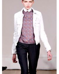 JW Anderson White Leather Biker By J.w.anderson
