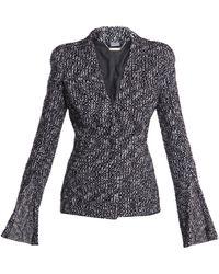 Alexander McQueen Fancy Boucle Tweed Jacket black - Lyst