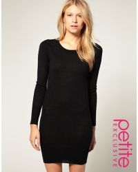 ASOS Collection Asos Petite Exclusive Knitted Dress with Cut Out Back - Lyst