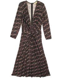 Issa Silk-jersey Gathered Waist Dress - Lyst