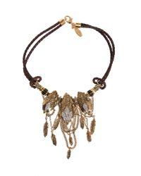 Roberto Cavalli Rapacious Bird Necklace brown - Lyst