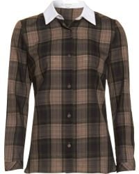 Carven Plaid Shirt - Lyst