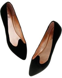 Madewell Belle By Sigerson Morrison® Suede Flats - Black