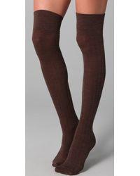 Club Monaco - Wool Thigh High Socks - Lyst