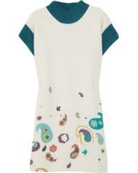 M Missoni Paisley-print Wool-blend Sweater Dress - Lyst