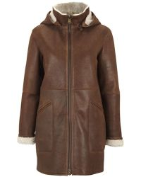 NW3 by Hobbs - Nw3 Hertford Shearling Coat, Off White - Lyst