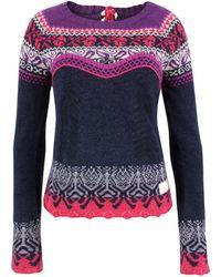 Odd Molly 925 Mid Indigo Knit - Blue