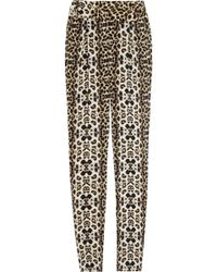 A.L.C. Elson Printed Silk-crepe Tapered Pants - Lyst