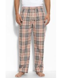 Burberry Checkprint Pajama Pants - Lyst