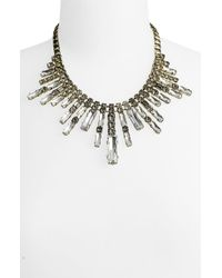 Cara Accessories Crystal Spike Frontal Necklace - Lyst